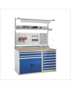 System Tek Workbenches - 1x 600mm & 1x 900mm Cabinets