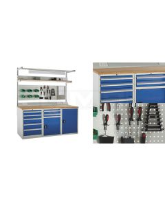 System Tek Workbenches - 3x 600mm Cabinets