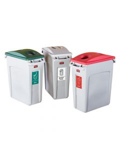 Slim Jim Recycling Containers - 60.1L Capacity - H.632 L.279 W.588 - Set of 3 (Plastic