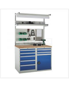 System Tek Workbenches - 2x 600mm Cabinets